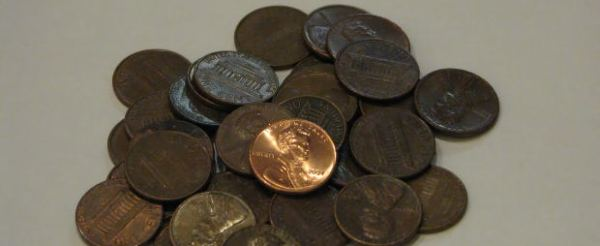 One shiny penny stands out